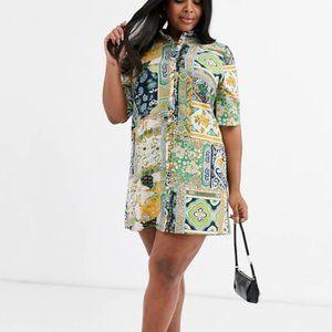NWT AX Paris shirt dress in border print floral